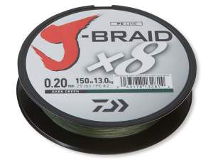 Daiwa J-Braid X8 dark green 0.06mm 5.0kg 150m