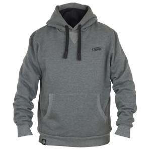 Fox Chunk Ribbed Grey Hoody - L
