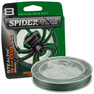SpiderWire Stealth Smooth 8 Moss Green 0,10 mm 150 m, geflochtene Angelschnur