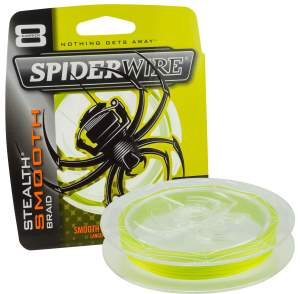 SpiderWire Stealth Smooth 8 Yellow 300 m, geflochtene Angelschnur, braided line