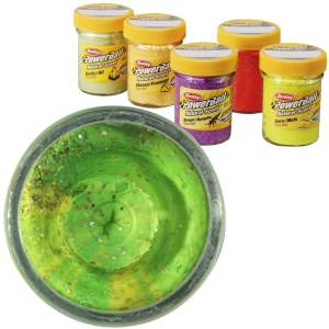 BERKLEY Natural Scent Glitter Fish Pellet - fluo green yellow 50g