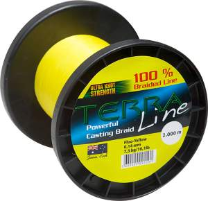 James Cook Terra Line 0,10mm 1000m fluo-yellow 4,3kg