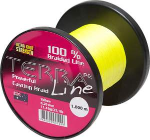 James Cook Terra PE Line 0,18mm 1000m yellow 10kg