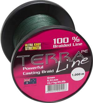 James Cook Terra PE Line 0,50mm 2000m green 45kg
