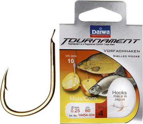 Daiwa Tournament Karpfen-/Maishaken gold Gr.2 60cm 0.25mm SB10