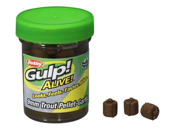BERKLEY TROUT PELLET 9MM GARLIC NATUR