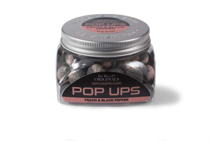 SONUBAITS Ian Russell Pop Ups Peach & Black Pepper 50g
